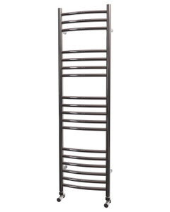 Trade Direct Towel Rail - 22mm, Stainless Steel Curved, 1200x350mm (Electric)