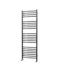 Trade Direct Towel Rail - 22mm, Stainless Steel Curved, 1400x400mm