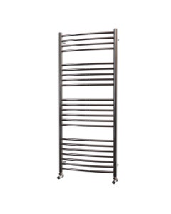 Trade Direct Towel Rail - 22mm, Stainless Steel Curved, 1400x500mm