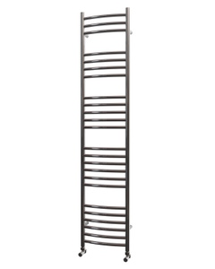 Trade Direct Towel Rail - 22mm, Stainless Steel Curved, 1600x350mm (Electric)