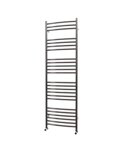 Trade Direct Towel Rail - 22mm, Stainless Steel Curved, 1600x500mm