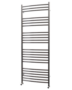 Trade Direct Towel Rail - 22mm, Stainless Steel Curved, 1600x600mm