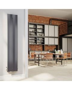 DQ Ruvo Designer Aluminium Radiator, Anthracite, 1800mm x 315mm