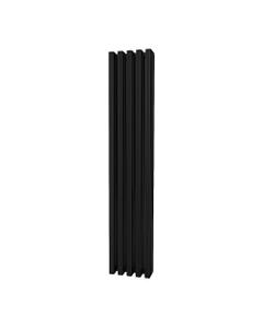 Trade Direct Quad Aluminium Column Radiator, Black, 1800mm x 320mm