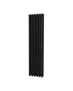 Trade Direct Quad Aluminium Column Radiator, Black, 1800mm x 390mm