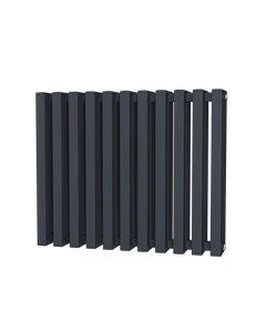 Trade Direct Quad Aluminium Column Radiator, Anthracite, 600mm x 730mm