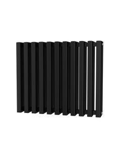 Trade Direct Quad Aluminium Column Radiator, Black, 600mm x 730mm