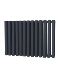 Trade Direct Quad Aluminium Column Radiator, Anthracite, 600mm x 886mm