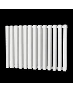 Trade Direct Quad Aluminium Column Radiator, White, 600mm x 886mm