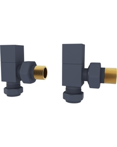 Trade Direct Manual Valves, Square, Anthracite Angled - 8mm