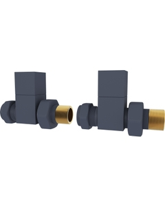 Trade Direct Manual Valves, Square, Anthracite Straight - 8mm