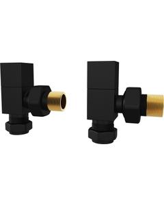 Trade Direct Manual Valves, Square, Black Angled - 10mm