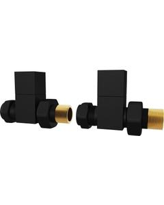 Trade Direct Manual Valves, Square, Black Straight - 10mm