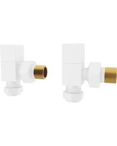 Trade Direct Manual Valves, Square, White Angled - 10mm