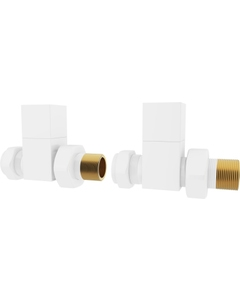 Trade Direct Manual Valves, Square, White Straight - 10mm