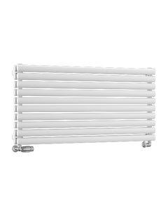 Nordic Oval Designer Radiator, White, 600mm x 1220mm - Double Panel
