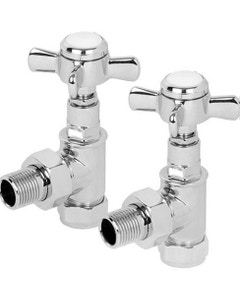 Trade Direct Manual Valves, Traditional, Chrome Angled  - 10mm