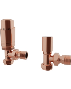 Trade Direct Thermostatic Valves, Modern, Copper Angled - 8mm