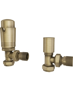 Trade Direct Thermostatic Valves, Modern, Antique Brass Angled