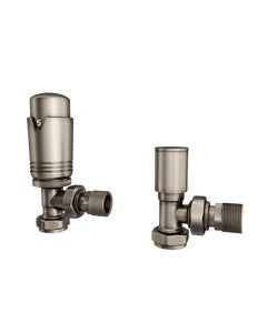 Trade Direct Thermostatic Valves, Modern, Natural Pewter Angled