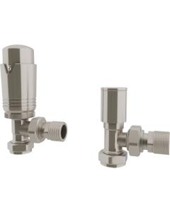 Trade Direct Thermostatic Valves, Modern, Satin Nickel Angled