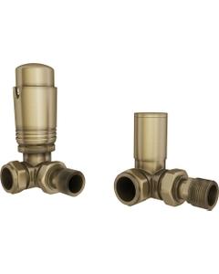 Trade Direct Thermostatic Valves, Modern, Antique Brass Corner