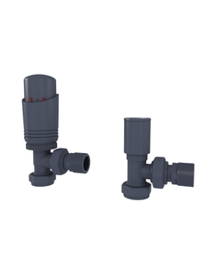 Trade Direct Thermostatic Valves, Modern, Anthracite Angled - 8mm