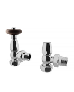 Trade Direct Thermostatic Valves, Traditional, Chrome Angled
