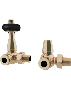 Trade Direct Thermostatic Valves, Traditional, Polished Brass Corner