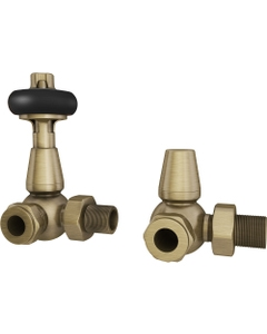Trade Direct Thermostatic Valves, Traditional, Antique Brass Corner