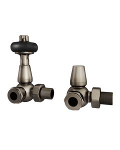 Trade Direct Thermostatic Valves, Traditional, Natural Pewter Corner