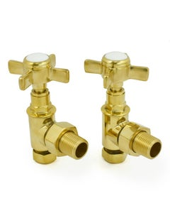 West Manual Valves, Westminster, Un-Lacquered Brass Angled - 8mm