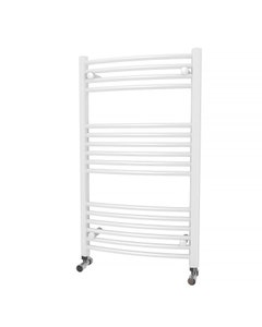 Trade Direct Towel Rail - 22mm, White Curved, 1000x600mm