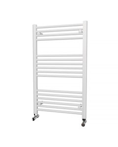 Trade Direct Towel Rail - 22mm, White Straight, 1000x600mm (Electric)