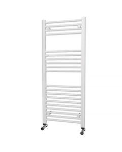 Trade Direct Towel Rail - 22mm, White Straight, 1200x500mm