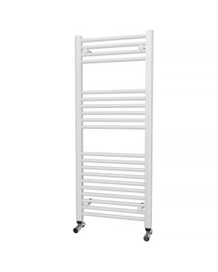 Trade Direct Towel Rail - 22mm, White Straight, 1200x500mm (Electric)