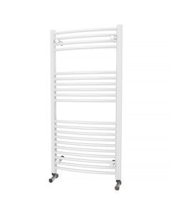Trade Direct Towel Rail - 22mm, White Curved, 1200x600mm (Electric)