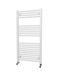 Trade Direct Towel Rail - 22mm, White Straight, 1200x600mm