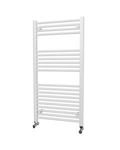 Trade Direct Towel Rail - 22mm, White Straight, 1200x600mm (Electric)