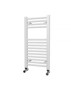 Trade Direct Towel Rail - 22mm, White Straight, 800x400mm