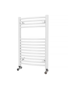 Trade Direct Towel Rail - 22mm, White Curved, 800x500mm