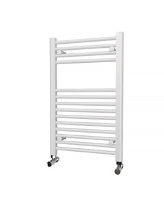 Trade Direct Towel Rail - 22mm, White Straight, 800x500mm (Electric)