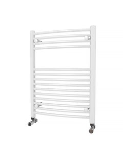 Trade Direct Towel Rail - 22mm, White Curved, 800x600mm (Electric)