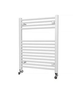 Trade Direct Towel Rail - 22mm, White Straight, 800x600mm