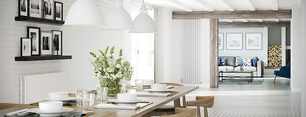 saturn white designer radiators