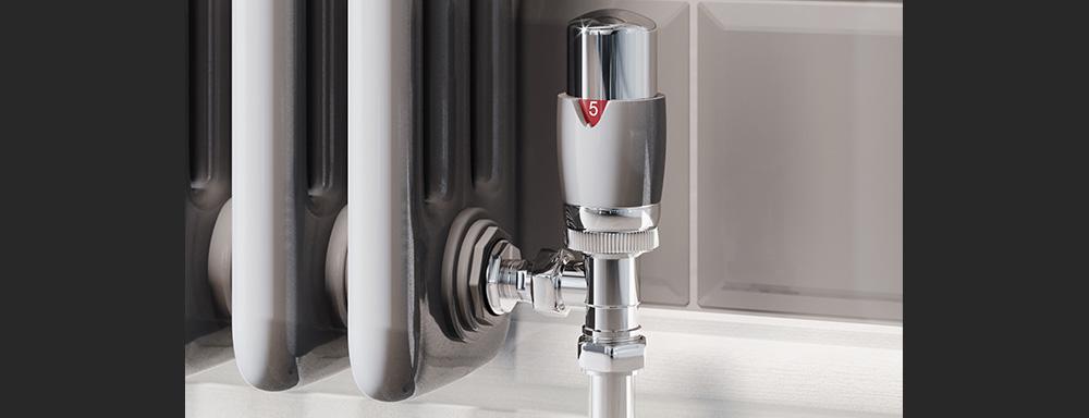 silver traditional radiator valves