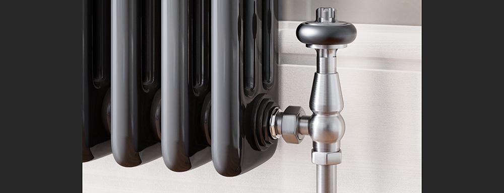 satin nickel radiator valves