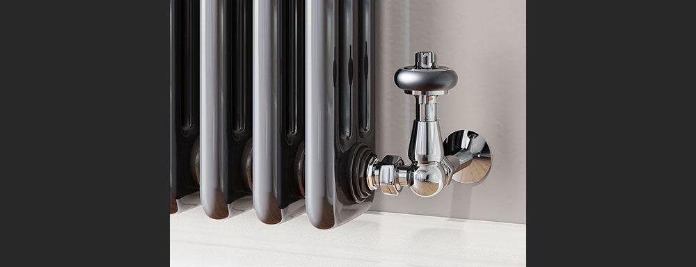 chrome traditional valves corner