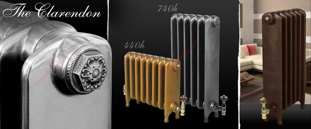 Clarendon cast iron radiator