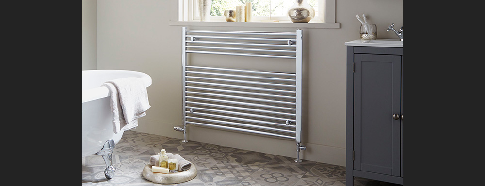 horizontal heated towel rail